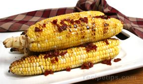 Grilled Corn with Chipolte, Molasses and Orange Glaze